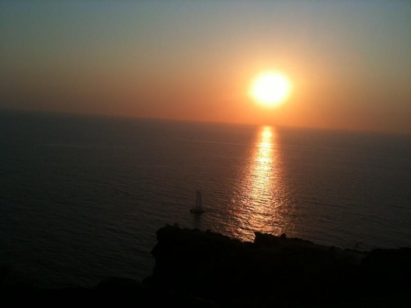 Pôr do sol no Farol