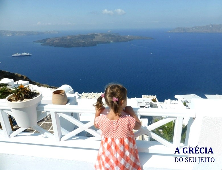 Viajar com criança para Santorini