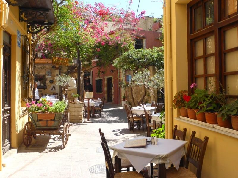 Becos da cidade antiga de Chania