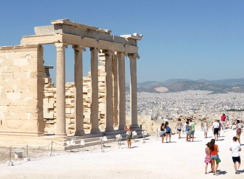 Erecteion Acropole de Atenas Grecia