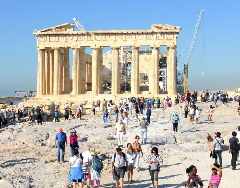 Partenon na Acrópole Atenas
