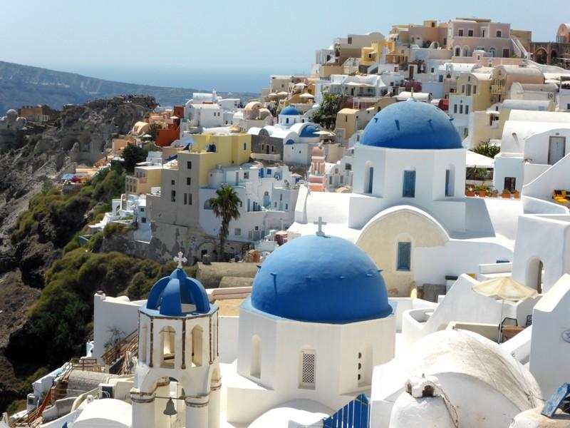 As cúpulas azuis mais famosas da Grécia