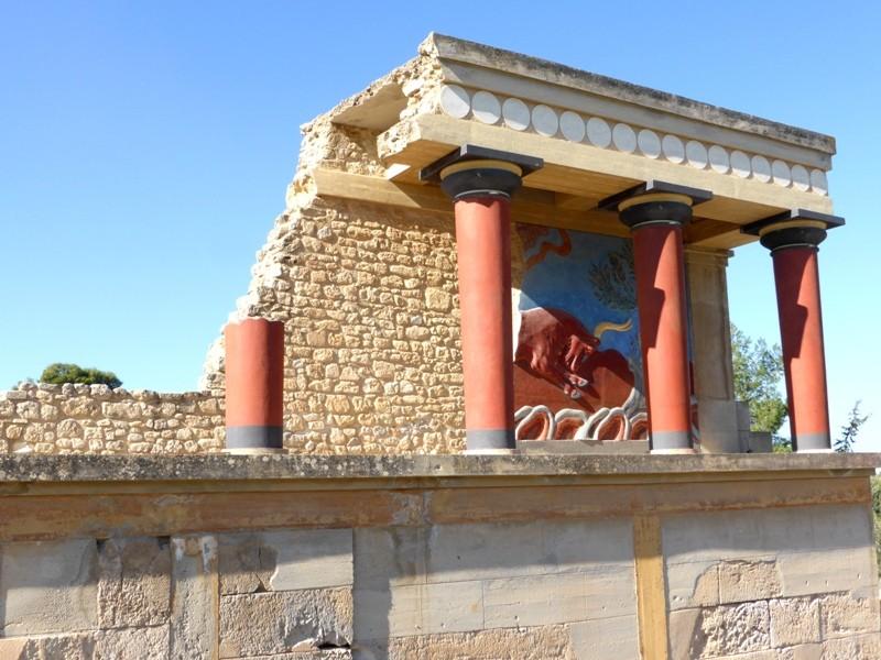 O sítio arqueológico de Knossos