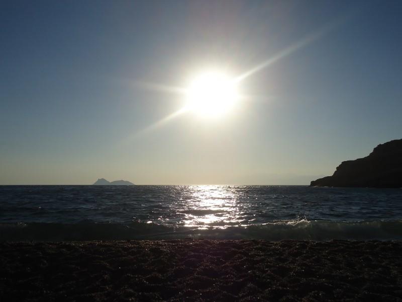 Pôr do sol, Creta do sul