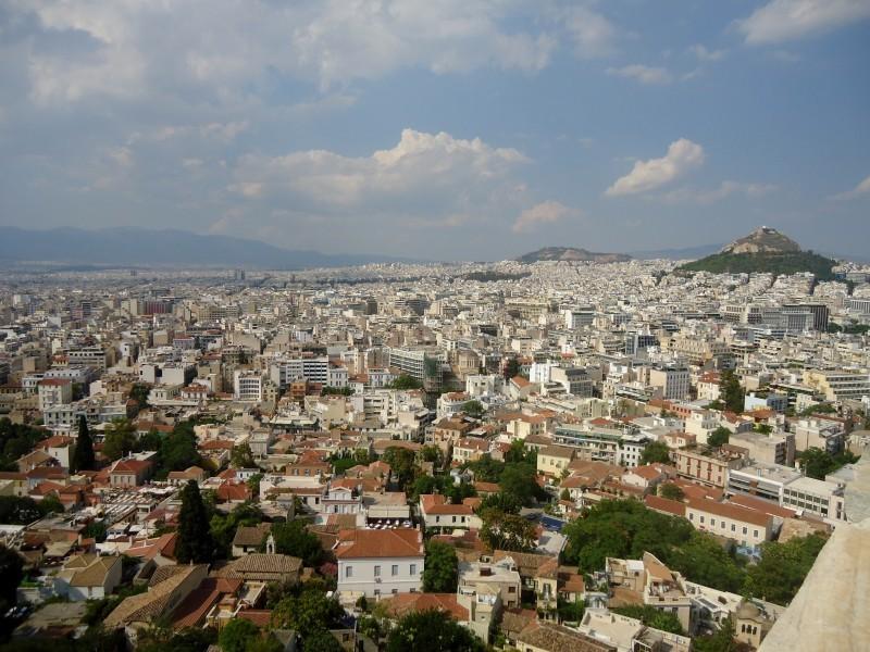 Atenas vista do alto da Acrópole