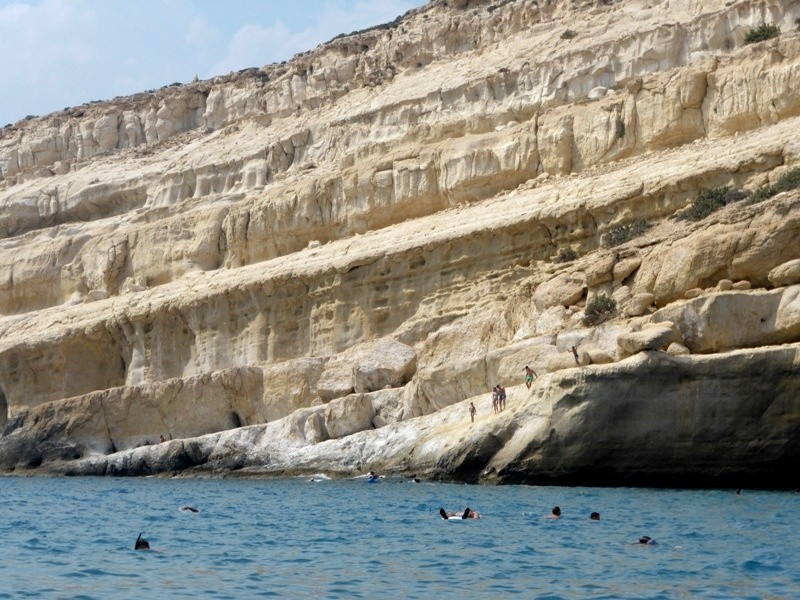 Mátala é uma das praias mais populares de Creta