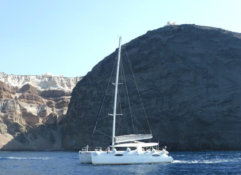 Navegando em Santorini