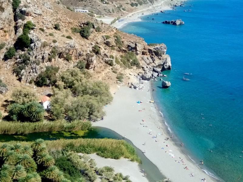 Praia de Preveli - Creta do Sul